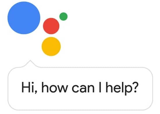 Google Assistant logo - How can I help?