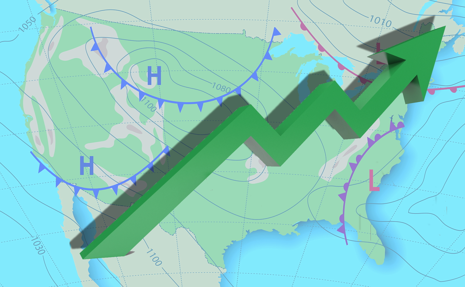 Weather Map with Graph