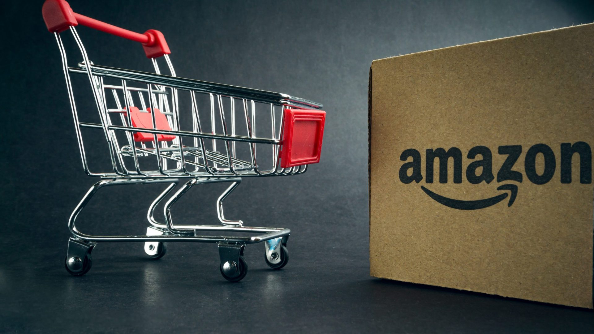 Shopping Cart with Amazon Box
